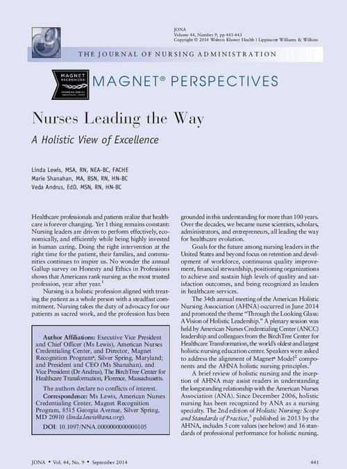 holistic nursing a way of being Additional services and information for journal of holistic nursing can be found at:  duced the concept of dasein (the human way of being (3), nursing,.
